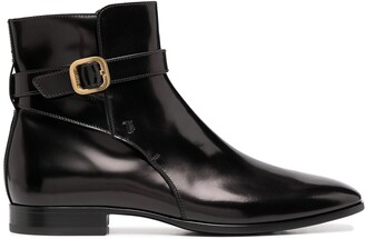 Tod's Buckle-Detail Ankle Boots