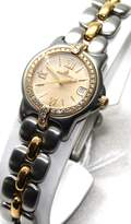 Berto Lucci Bertolucci Watches Bertolucci Mini Vir Steel and 18k Gold Diamond Bezel and Lugs Date Swiss Women's Watch