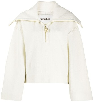 Nanushka Evira zip-up jumper