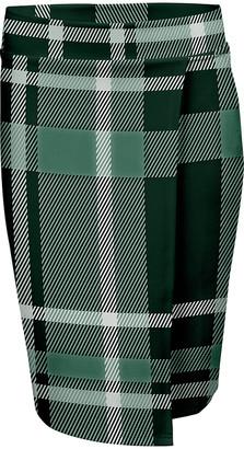 Lily Women's Pencil Skirts GRN - Black & Green Plaid Wrap Skirt - Women & Plus