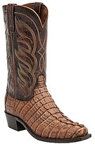 Lucchese Landon Hornback Caiman Western Boots