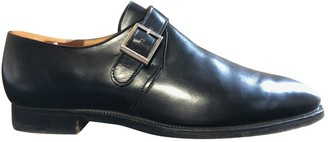 Crockett Jones Crockett& Jones Black Leather Flats