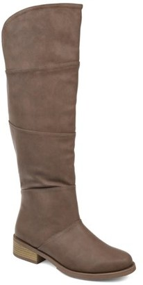 Brinley Co. Comfort by Womens Extra Wide Calf Faux Leather Knee-high Boot