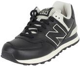New Balance Men's 574 Lux Leather Trainers, Black black