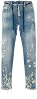 Off-White straight-leg bleached jeans - men - Cotton/Polyester - 30