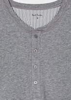 Paul Smith Men's Grey Jersey Short Sleeve Henley Top