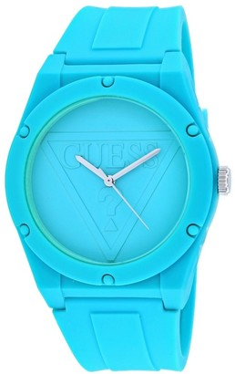 GUESS Women's W0979L10 'Retro Pop' Blue Silicone Watch