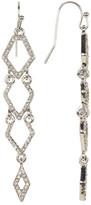Jessica Simpson Dangling Embellished Diamond Chain Earrings