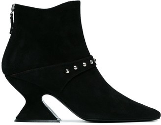 Dorateymur Black Suede radio Studded 70 boots