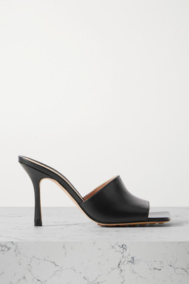 Bottega Veneta Leather Mules - Black