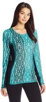 Miraclesuit MSP by Women's Printed Reversible Long Sleeve Top