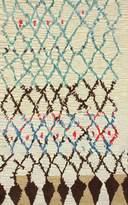 nuLoom 200MJSM20A-76096 Hand-Tufted Moroccan Berber Wool/Faux Silk Ivory Rug (7-Feet 6 X 9-Feet 6)