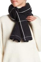Halogen Wool & Cashmere Blend Windowpane Check Muffler