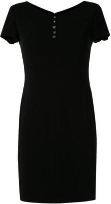 Chanel Pre Owned buttoned V-neck dress