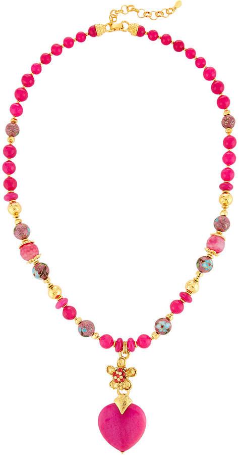 Jose & Maria Barrera Heart Y-Drop Pendant Necklace