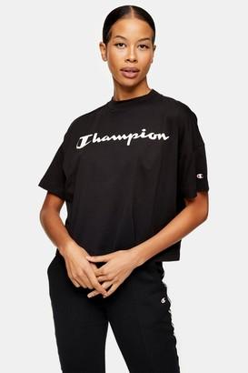 Champion Womens Black Crop T-Shirt By Black