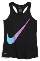 Nike Girl's Exploded Swoosh Dri-Fit Tank