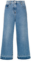 MSGM denim cropped wide leg jeans