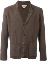 Hackett patch pockets knitted blazer