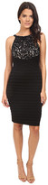 London Times Lace And Jersey Shutter Sheath Dress