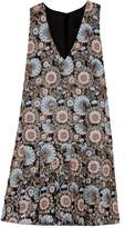 J.Crew Collection metallic floral-jacquard dress