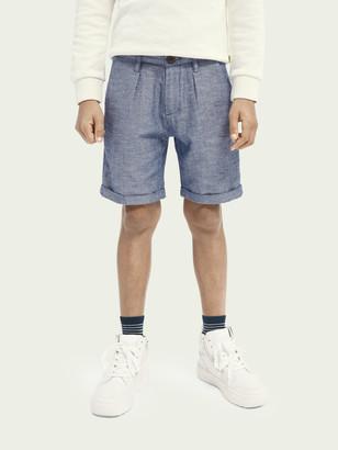Scotch & Soda Organic cotton-linen dress shorts | Boys