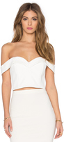 Nicholas Bonded Crepe Sweetheart Crop Top