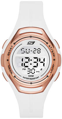 Skechers Artesia Womens Chronograph Digital White Strap Watch-Sr2011