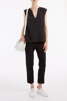 Raquel Allegra Black Gauze Tunic Top