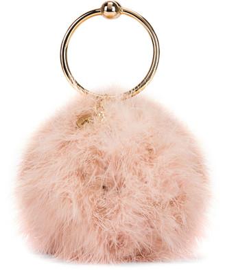 Rosantica Milady Bag in Brass & Marabu Fur   FWRD