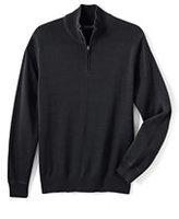 Classic Men's Performance Half-zip Elbow Patch Cotton Sweater-Cajun Blue Floral
