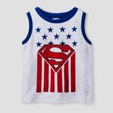 Superman Toddler Boys' Americana T-Shirt - Heather Grey
