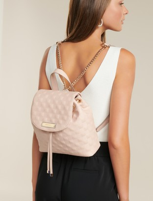 Forever New Alice Quilted Mini Backpack - Blush - 00