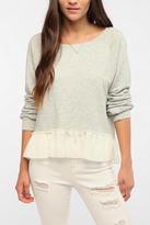 Daydreamer LA Chiffon Ruffle Sweatshirt