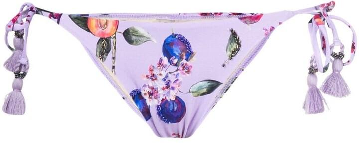 PQ Swim Passion Fruit-Print Bikini Bottoms