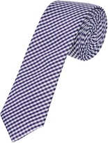 Oxford Silk Tie Checks Ppl Purple X