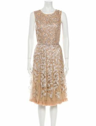 Oscar de la Renta 2011 Midi Length Dress