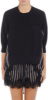 Sacai Women's Organza-Back Sweater