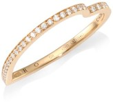 Repossi Antifer Diamond Pave 18K Rose Gold Heart Ring