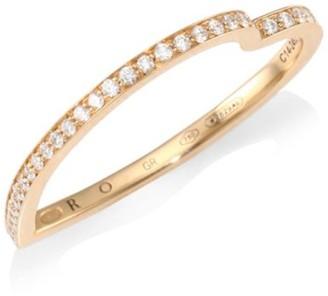 Repossi Antifer 18K Rose Gold & Diamond Heart Ring