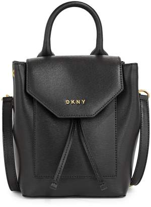 DKNY Small Alexa Leather Backpack