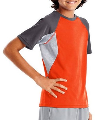 Hanes Boys 4-20 Performance Active Colorblock Mesh Inset T-Shirt