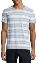 Vince Jaspe Striped Short-Sleeve T-Shirt, Gray/White