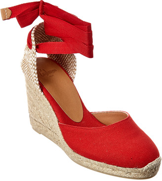 Castaner CastaEr Carina Ankle Wrap Canvas Wedge Espadrille