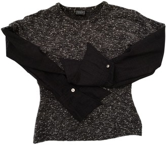 Versus Black Wool Top for Women Vintage