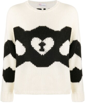 RED Valentino Chains and Padlocks motif knitted jumper