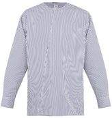 Marni Collarless Striped Cotton Shirt