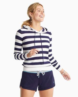 Southern Tide Luis Striped Hooded Pullover Sweater