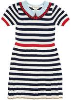 Gucci Striped Cotton Blend Knit Dress