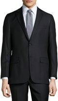 Hickey Freeman Classic-Fit Pinstripe Suit, Black